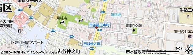東京都新宿区市谷薬王寺町周辺の地図