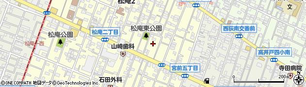 東京都杉並区松庵2丁目9周辺の地図
