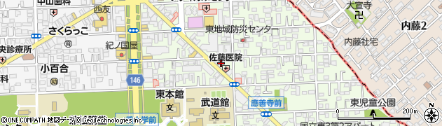 焼肉琉璃周辺の地図
