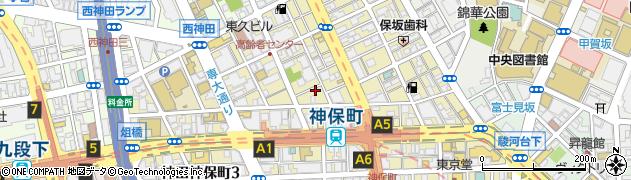 東京都千代田区神田神保町周辺の地図