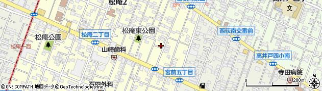 東京都杉並区松庵2丁目6-32周辺の地図