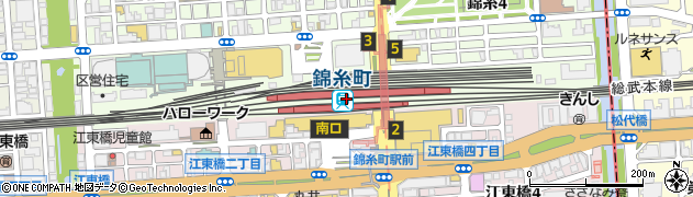東京都墨田区周辺の地図