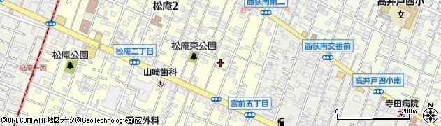 東京都杉並区松庵2丁目6-2周辺の地図
