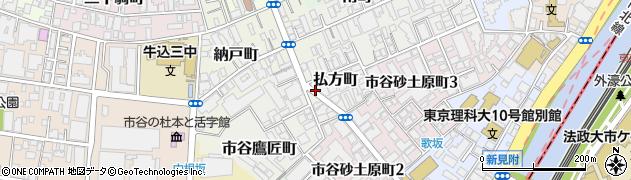 東京都新宿区払方町周辺の地図