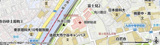ウェルネスヘアサロン東京逓信病院店周辺の地図