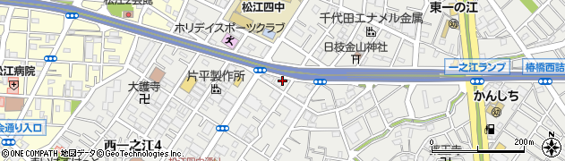 東京都江戸川区西一之江周辺の地図