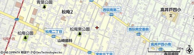 東京都杉並区松庵2丁目周辺の地図