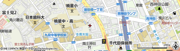 東京都千代田区飯田橋1丁目1周辺の地図