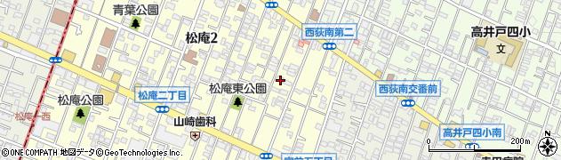 東京都杉並区松庵2丁目6-8周辺の地図