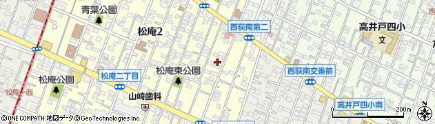 東京都杉並区松庵2丁目6-26周辺の地図
