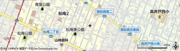 東京都杉並区松庵2丁目6周辺の地図
