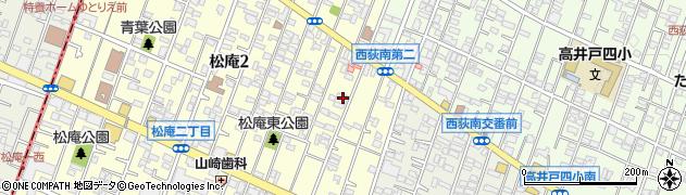 東京都杉並区松庵2丁目6-25周辺の地図