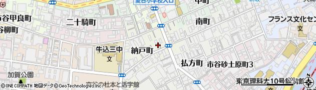 東京都新宿区納戸町周辺の地図
