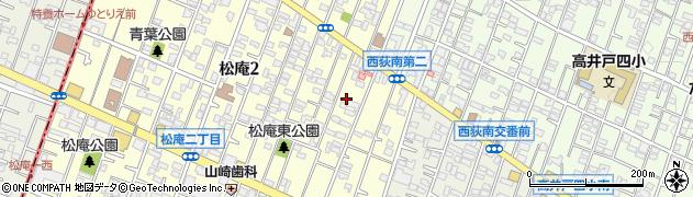 東京都杉並区松庵2丁目6-11周辺の地図