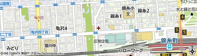 津軽稲荷神社周辺の地図