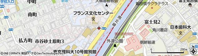 東京都新宿区市谷船河原町周辺の地図