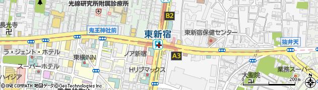 東京都新宿区周辺の地図