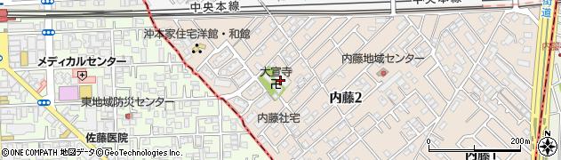 大宣寺周辺の地図