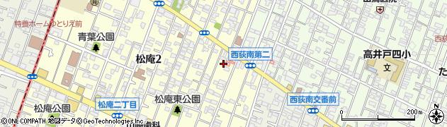 東京都杉並区松庵2丁目6-13周辺の地図