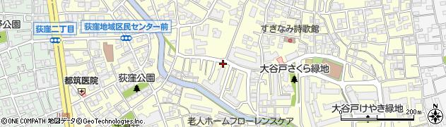 東京都杉並区荻窪周辺の地図