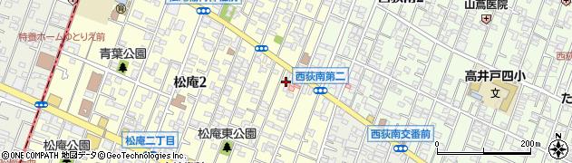 東京都杉並区松庵2丁目6-14周辺の地図