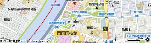 東京都墨田区横網周辺の地図