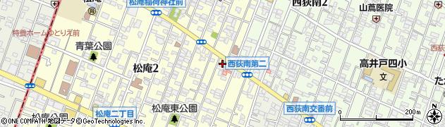東京都杉並区松庵2丁目6-17周辺の地図