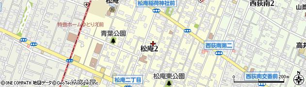 東京都杉並区松庵周辺の地図