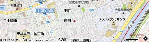東京都新宿区南町周辺の地図