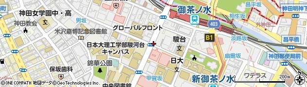 東京都千代田区神田駿河台周辺の地図