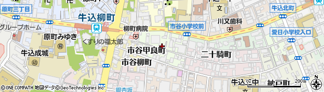 東京都新宿区市谷甲良町周辺の地図