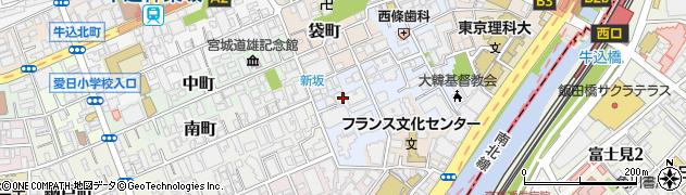 東京都新宿区若宮町周辺の地図