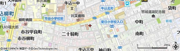 東京都新宿区南山伏町周辺の地図