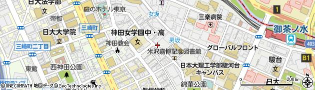 東京都千代田区神田猿楽町周辺の地図