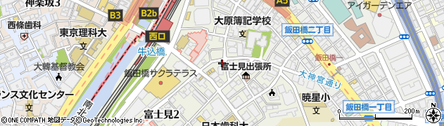 とびうし飯田橋周辺の地図