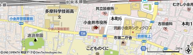 東京都小金井市周辺の地図