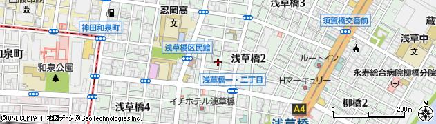 東京都台東区浅草橋周辺の地図