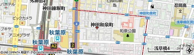 東京都千代田区神田和泉町周辺の地図
