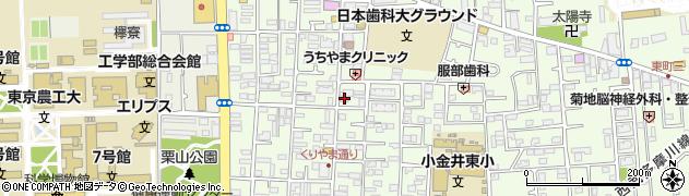 東京都小金井市東町4丁目周辺の地図