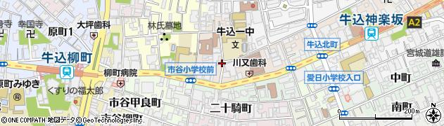 東京都新宿区北山伏町周辺の地図