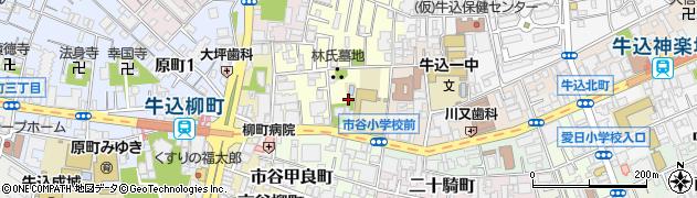 東京都新宿区市谷山伏町周辺の地図