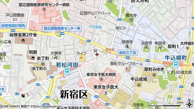 〒162-0056 東京都新宿区若松町の地図