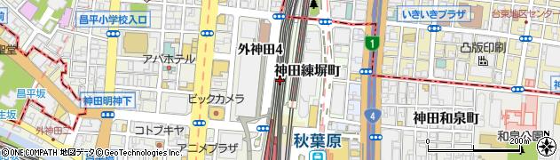 東京都千代田区神田練塀町周辺の地図