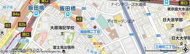 東京都千代田区飯田橋周辺の地図