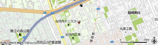 東京都江戸川区谷河内周辺の地図