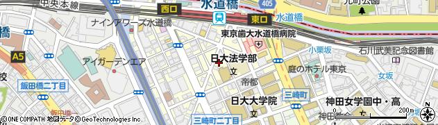 東京都千代田区神田三崎町周辺の地図