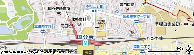 北口カフェ周辺の地図