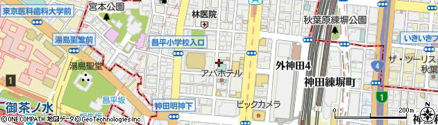 東京都千代田区外神田周辺の地図