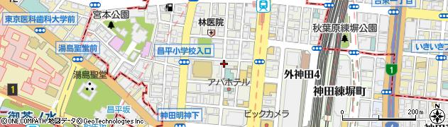 東京都千代田区外神田3丁目周辺の地図