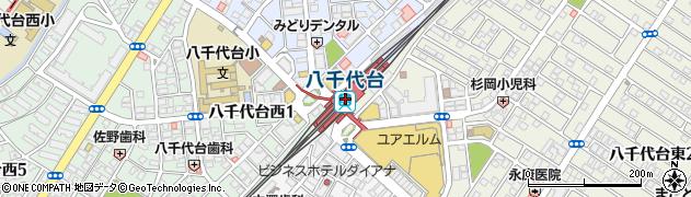 千葉県八千代市周辺の地図
